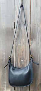 VTG Coach #9950 Black Leather Zip Janice Legacy Crossbody Shoulder Bag