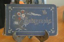 Antique 1879 -1882 WESLEYAN College Autograph Book w/Poems Wilmington De