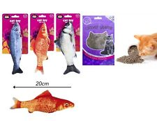 Plush Fish Pet Cat Catnip Stuffed Play Toy Chewing Mint Fish + CatNip Refill