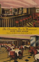 Postcard The American Bar & Restaurant Hotel Times Square New York City NY 1943