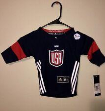 Kids Size1sz 2016 World Cup US Hockey Patrick Kane Navy Premier Jersey