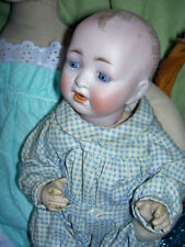 "Darling Hertel Schwab 151 German, antique bisque 10"" jointed character baby doll"