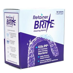 Retainer Brite Cleaning Tablets ~ Removeable Dental Appliances Cleaner 36 Tabs