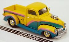 Racing Champions 1940 Ford Pickup Yellow '40 Hot Rod Truck 1/64 Scale