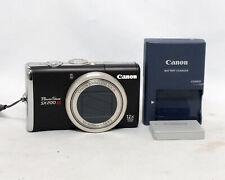 Canon PowerShot SX200 IS 12.1MP 12x Optical Zoom Lens Digital Camera Black
