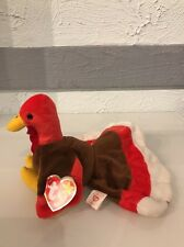 1996 GOBBLES Retired Ty Beanie Baby VERY RARE Misspelled Swing Tag With STAMP