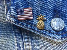 "pineapple lapel pins gold metal hospitality pins lapel pin 3/4"" tall 100 pc. lot"