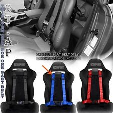"Adjusters Jdm 4-Point 2"" Strap Drift Racing Safety Seat Belt Buckle Harness Blue"