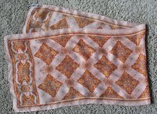 Vintage Burmel Long Scarf - Peach & Orange