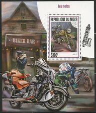 NIGER 2017  MOTORCYCLES SOUVENIR SHEET MINT  NH