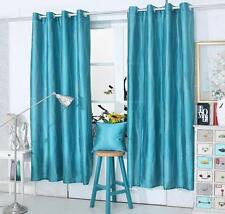 CLEARANCE TEAL Glitter Sparkly  Diamante Eyelet Ring Top Voile Curtain Panel
