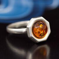 Bernstein Silber 925 Ring Sterlingsilber Damen-Schmuck verschiedene Groessen R21
