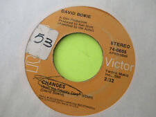 DAVID BOWIE CHANGES / ANDY WARHOL 45 7""