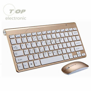 USB Wireless Slim Keyboard and Cordless Mouse 2.4GHZ Combo Kit Set PC Laptop