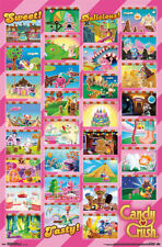 2014 CANDY CRUSH SAGA WORLDS GRID 22x34 NEW VIDEO GAME POSTER FREE SHIPPING