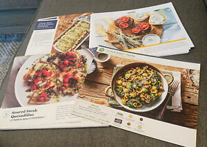 Lot of 67 Misc Recipe Cards- Plated, Hello Fresh, Blue Apron & Marley Spoon