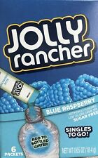 4 Boxes JOLLY RANCHER BLUE RASPBERRY SINGLES TO GO Drink Mix  24 Packets