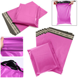 """14 x 21"""" Pink Mailing Bags Strong Parcel Postage Plastic Post Poly Extra Large"""