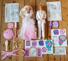 Dance Magic Barbie And Ken Vintage Matell 1989 with Accessories & Stand