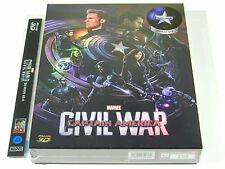 Captain America Civil War (3D+2D) Blu-ray Steelbook Korea Novamedia FSA #105/700
