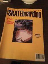 Transworld Skateboarding Magazine September 1989 Gary Owens! Jon Bryan! 9/89 Sep