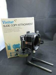 Vintage Vivitar Slide Copy Attachment For Vivitar Bellows and Box - Excellent