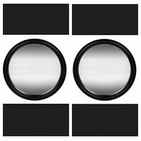 Set Of 2 Special Moments Round Wall Mirrors with Black Frames, 7.5 in.