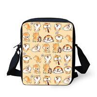 Cute Shiba Inu Handbag for Womens Messenger Sling Cross Body Shoulder Bag Small