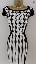 Size UK 10 Karen Millen Jersey Monochrome Pencil Dress