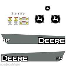 JOHN DEERE 317 skid loader DECALS Stickers SET