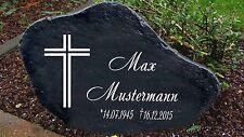 Schwarz Gedenkplatte Grabstein Gedenktafel Gedenkstein Urne Tiergrab  Kreuz 2