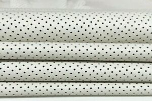 OFF WHITE PINHOLES PERFORATED soft Italian Lambskin leather 2 skins 12sqf #A7197