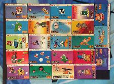 NINTENDO Super Mario Bro 3 Carddas JAPAN Trading Cards Lot 23 RARE