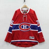 PK Subban #76 Montreal Canadiens Reebok Jersey Size Large NHL Stitched