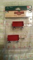 Lemax Coventry Cove Christmas Village 2 Little Red Wagons 2004 Holiday Accessory