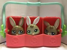 Littlest Pet Shop Bunnies Rabbits 1332 1333 1334 Petriplets Triplets Carrier Lot