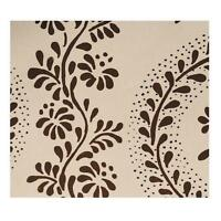 "SISTER PARISH ""Dolly"" White/Dark Brown Wallpaper (12 single rolls) ON SALE!"