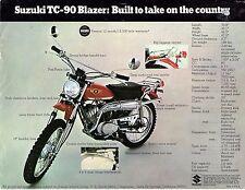 1970 Suzuki TC-90 Blazer  motorcycle sales brochure/flyer (Reprint) $6.50