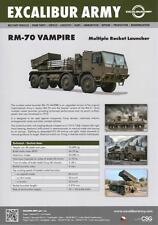 EXCALIBUR ARMY TATRA T-815 RM-70 2015 8x8 MILITARY BROCHURE PROSPEKT FOLDER