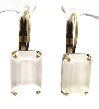 SoHo® Ohrhänger vintage bronze altgold 1960´s Strass Kristall crystal matt alt