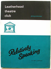 Relatively Speaking Isla Blair George Pensotti Patricia Lawrence Anthony Marlowe