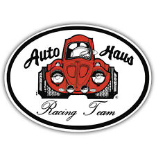 auto haus racing team sticker aircooled beetle retro 100mm x 85mm