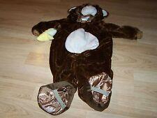 Infant Size 12-24 Months Plush Brown Monkey Halloween Costume EUC