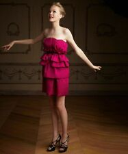 Impluse NEW Pink Georgette Tiered Ruffled Strapless Belted Cocktail Dress 12