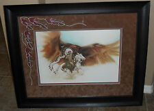 "**Bev Doolittle ""RUSHING WAR EAGLE""-LIMITED EDITION-Camoflauge-Indian Fine Art**"