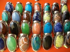 Peru LOT 20 BIG RINGS SEMI PRECIOUS STONE **Buy in lots of 8,20,40,80, 150 other