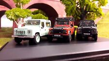 1:76 OO Land Rover Defender TDCi 90 Heritage Green Adventure Autobiography x3