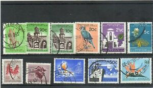 SG227/236 SOUTH AFRICA USED SET.. CAT £60 (PLUS SG233a)
