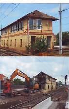 Photos 67 :  Démolition du poste d'aiguillage de la gare SNCF de Vendenheim