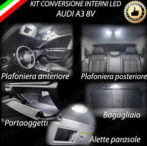 KIT LED INTERNI PER AUDI A3 8V CONVERSIONE COMPLETA CANBUS NO ERROR